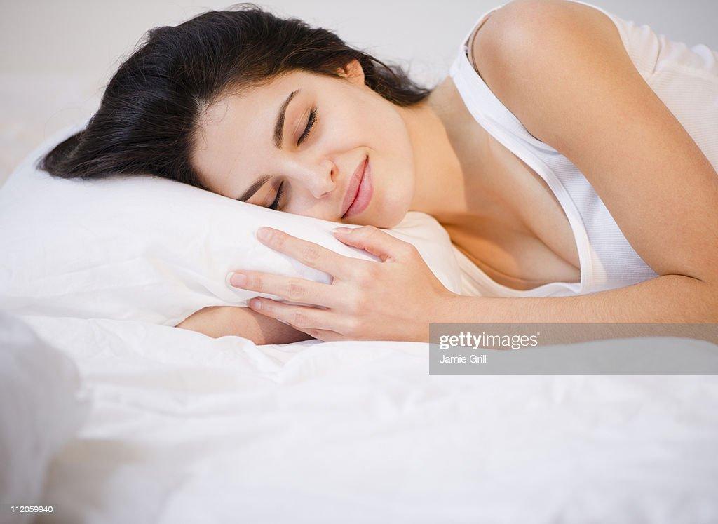 Young woman sleeping : Stock Photo