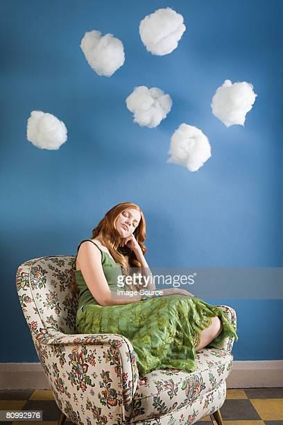 Eine junge Frau Schlafen