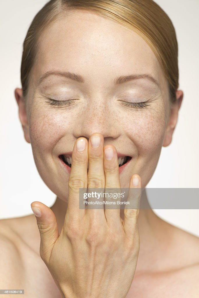Woman Covering Mouth 15