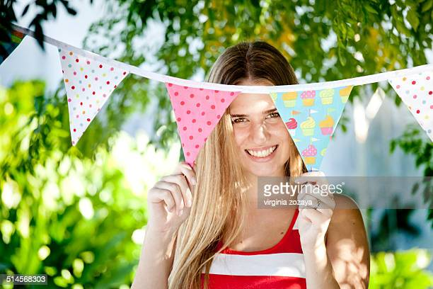 Young woman smiling face