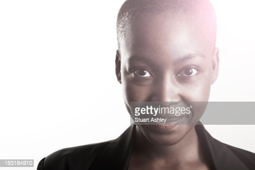 Young woman smiling portrait : Stock Photo