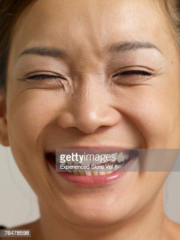 detail photo japanese womans eyes close royalty free image