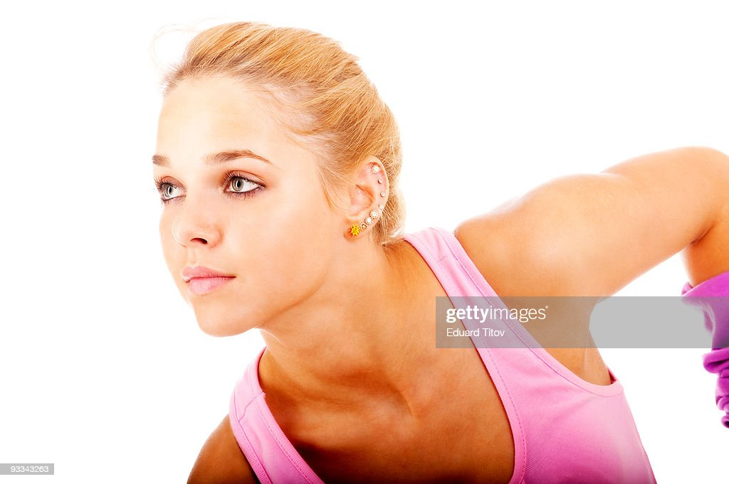 Young woman sportswoman : Stock Photo