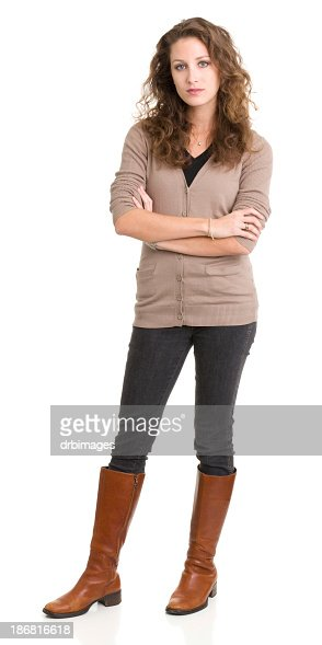 Young Woman Standing With Arms Crossed