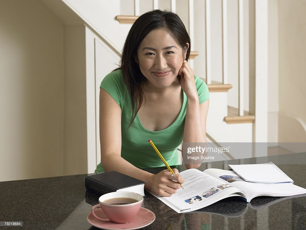 Young woman studying : Stock Photo