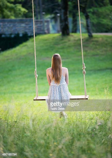 Young Woman Swinging