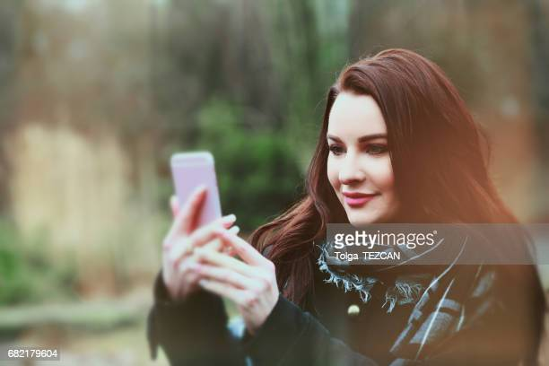 Young woman take is selfie, Malmö, Sweden