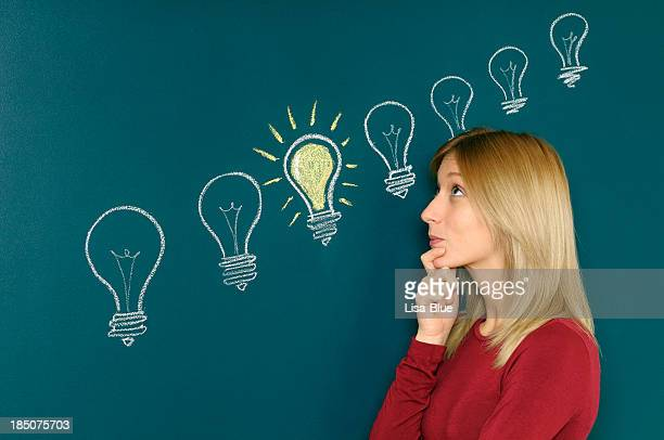 Young Woman Thinking A Big Idea