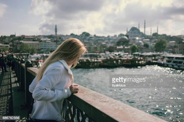 Young Woman Tourist in Istanbul