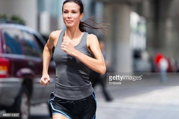 Young Woman Urban Jogger