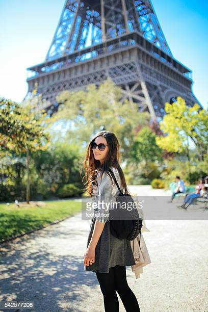 Young woman walking and relaxing in Paris