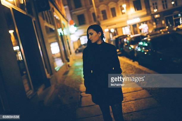 Young woman walking in Berlin Mitte