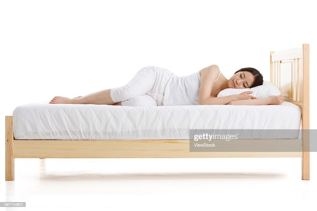 A young woman was sleeping