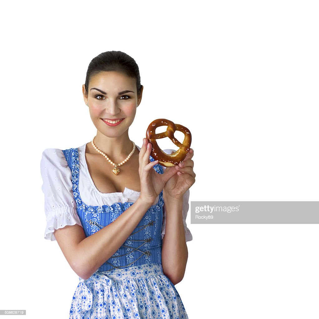 Young woman wearing a dirndl
