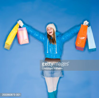 Fantastic Woman With Shopping Bags Stock Photos  Image 35710703