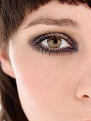 Young Woman Wearing Eye Makeup