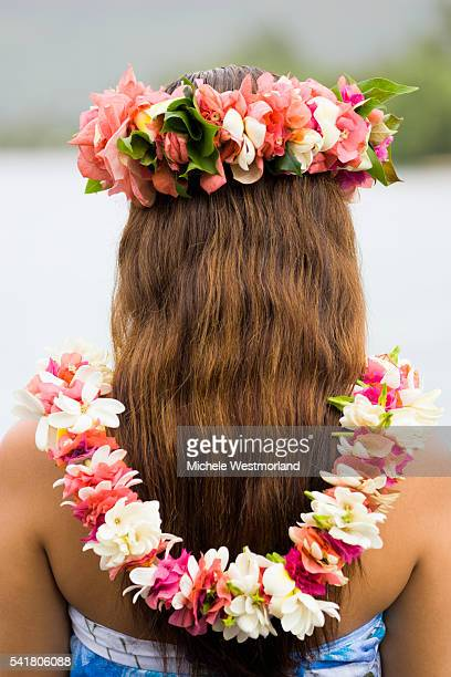 Young Woman Wearing Flowers