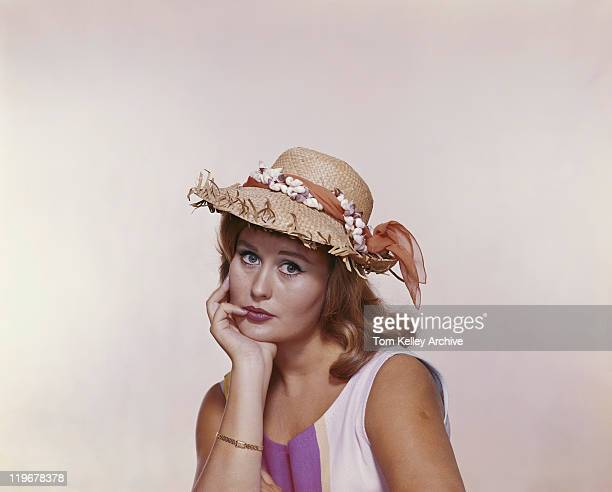 Young woman wearing hat, portrait