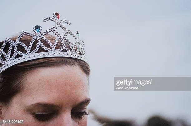 Young Woman Wearing Tiara