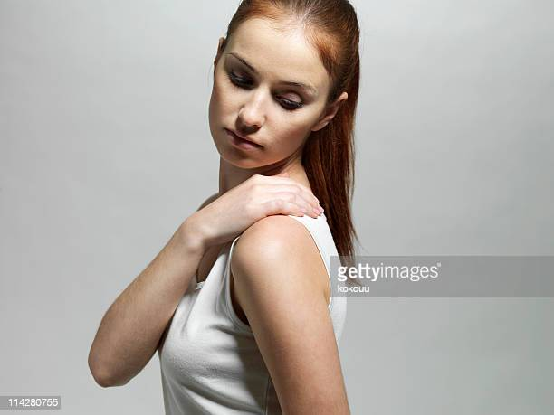 Young woman with a shoulder massage