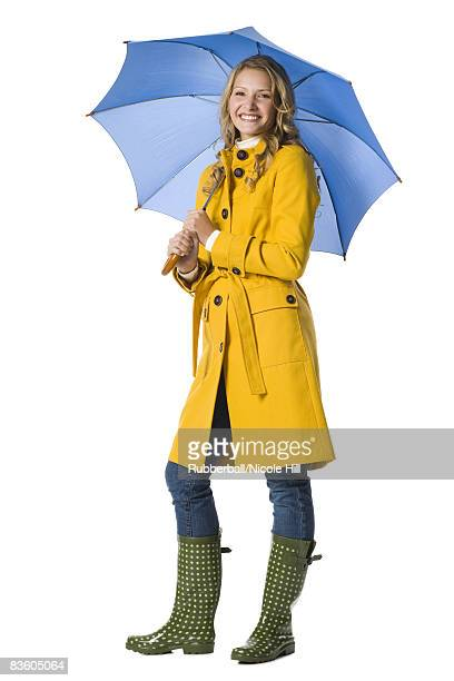 Young woman with an umbrella.