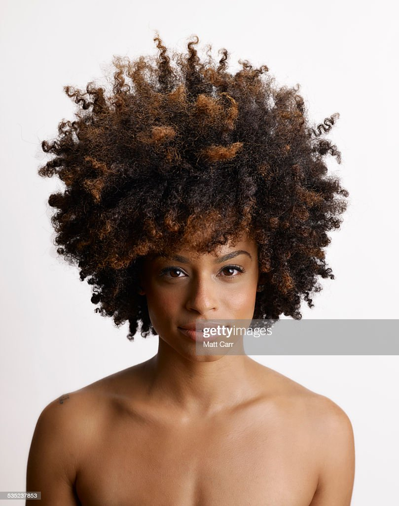 Young woman with big hair