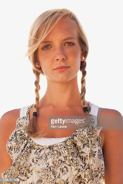 Young woman with braids, portrait