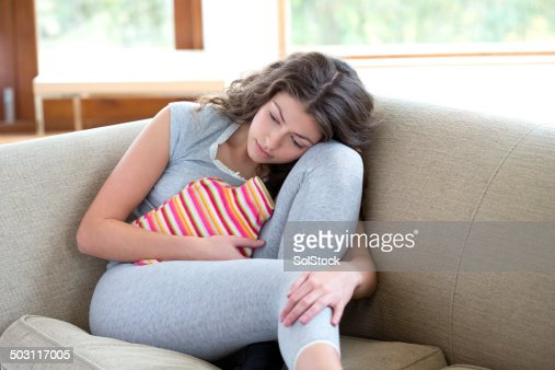 Young Woman With Cramps