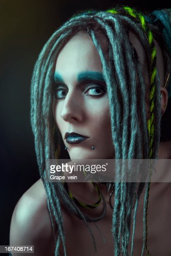 Young woman with dreadlocks : Stock Photo