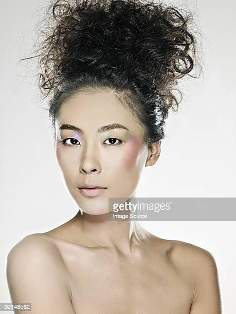 Young woman with hair up