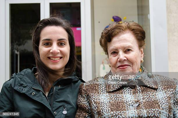 Young woman with her grandmother