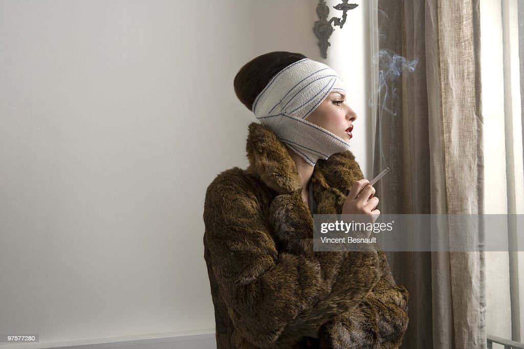 young woman with medical bandage  : Stock Photo