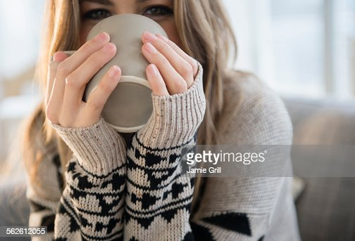 Young woman with mug
