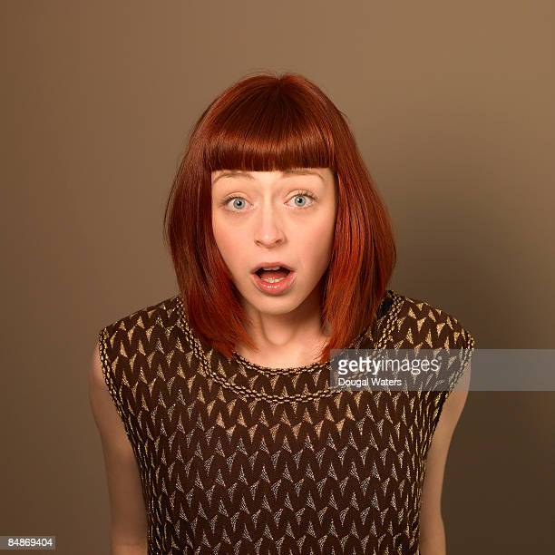 Young woman with shocked expresion.
