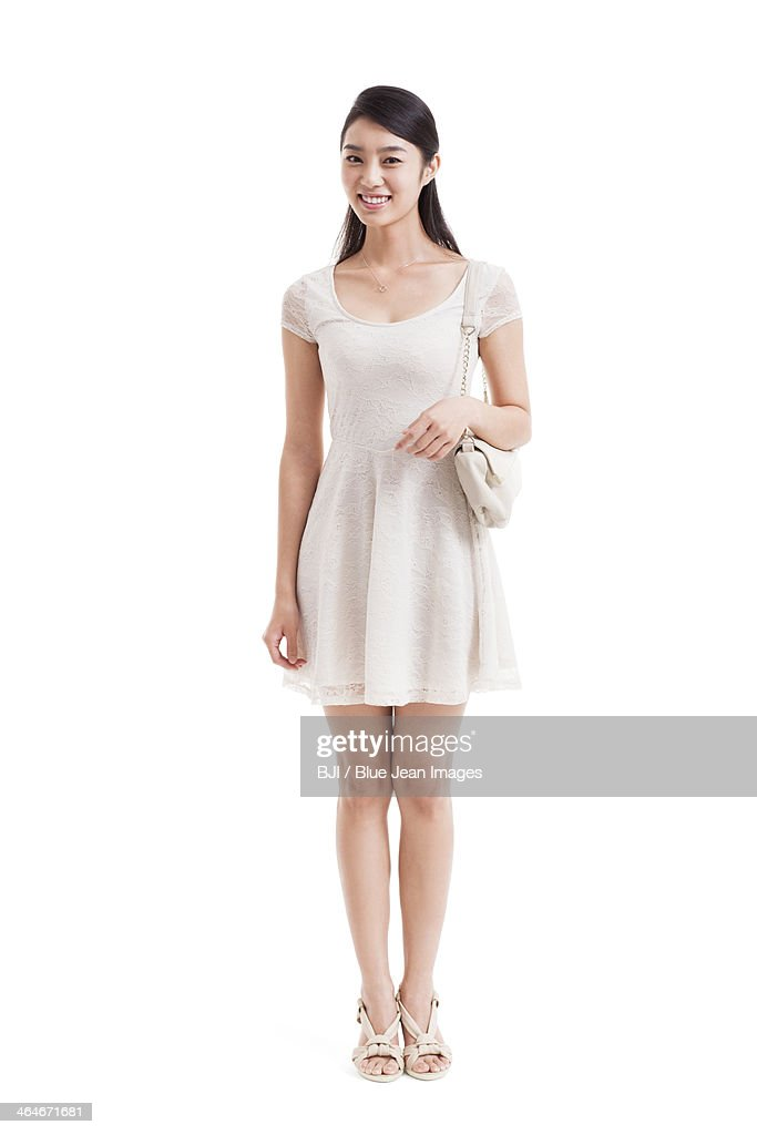 Young woman with shoulder bag