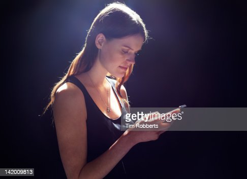 Young woman with smart phone.