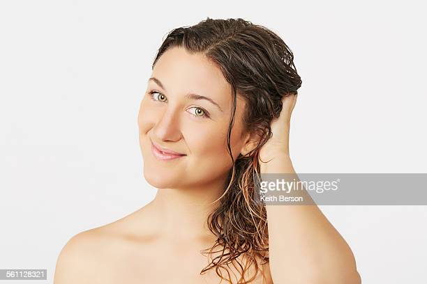 Young woman with wet hair