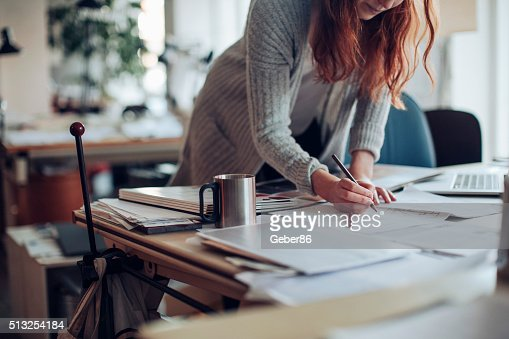 Young woman working on a project