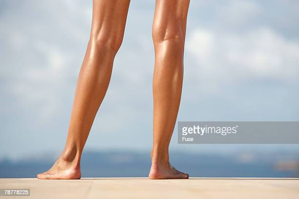 Young Womans Bare Legs