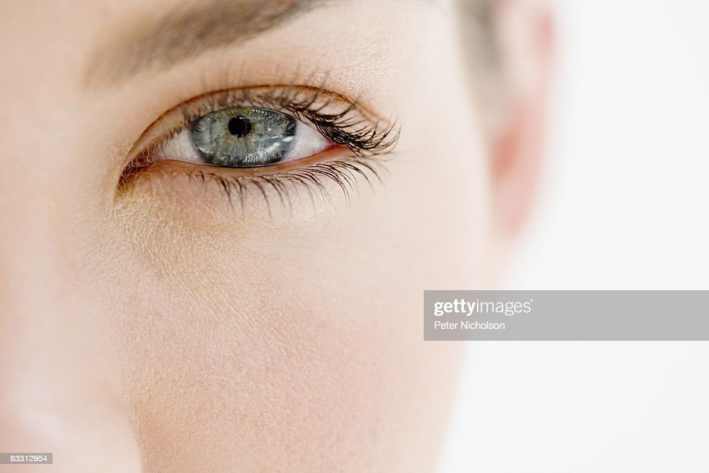 young woman's eye close up : Stock Photo
