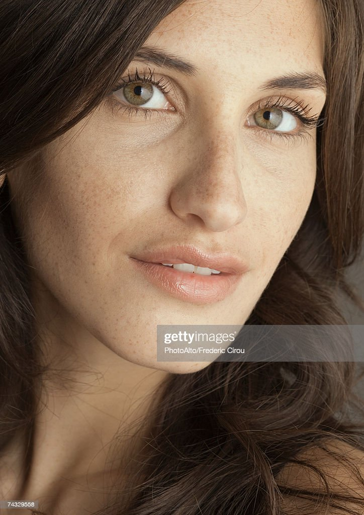 Young woman's face, portrait : Stock Photo