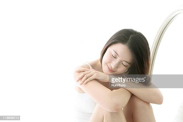 young woman's relaxing time