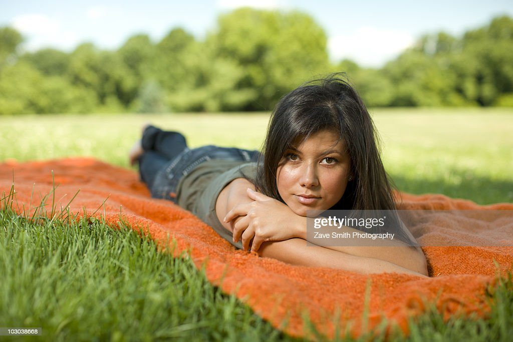 Young women at a Park : Stock Photo