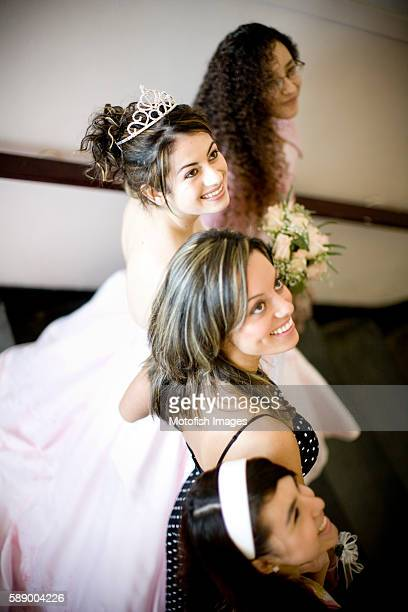 Young Women at Quinceanera Celebration