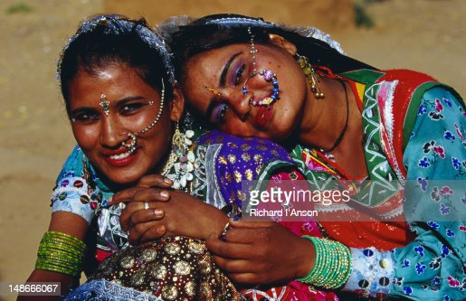 Young women at Shilpgram village. : Stock Photo