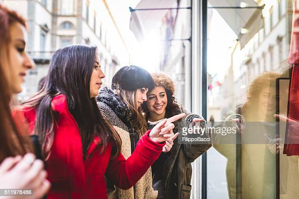 Young Women Friends Having Shopping Together