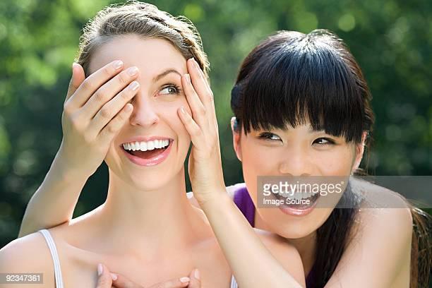 Young women having fun