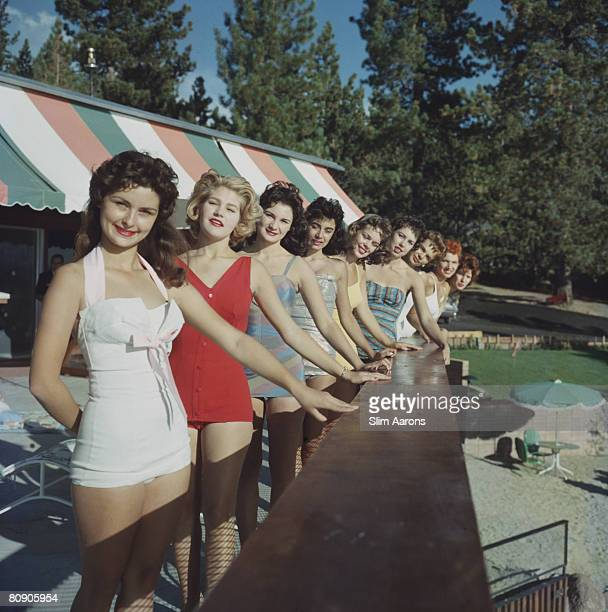 Young women holidaying by Lake Tahoe circa 1959