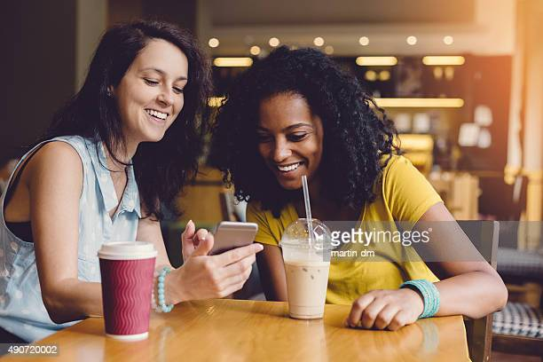 Young women in a cafe