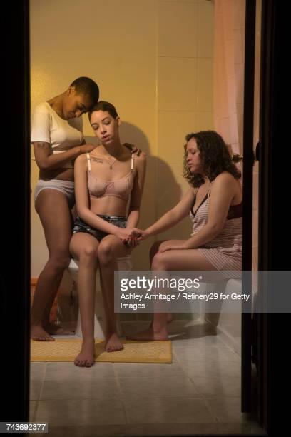 Young Women In Bathroom